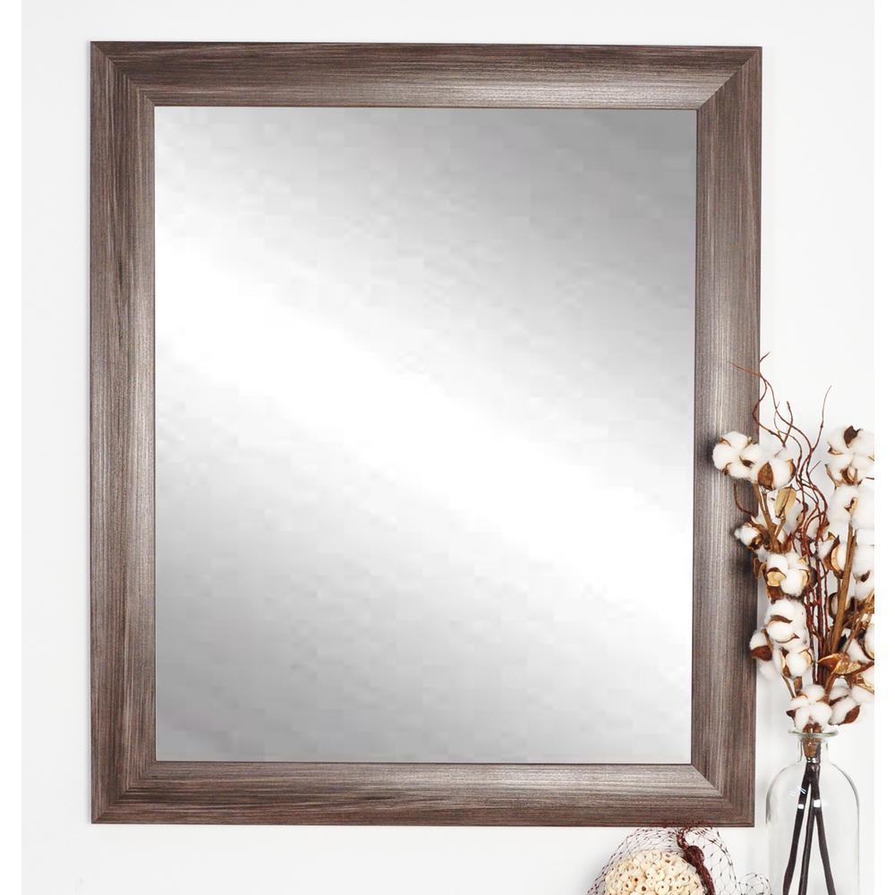 Ashland Dark Grey Decorative Framed Wall Mirror-AV42MED ... on Wall Mirrors Decorative id=11462