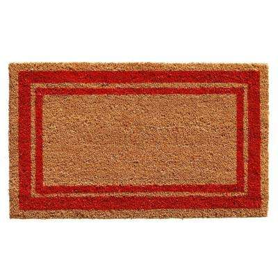 Red Border Door Mat 18 in. x 30 in.