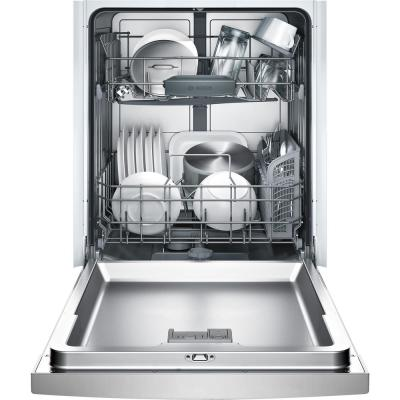 Ascenta 24 in. Stainless Steel Front Control Tall Tub Dishwasher with Hybrid Stainless Steel Tub, 50 dBA