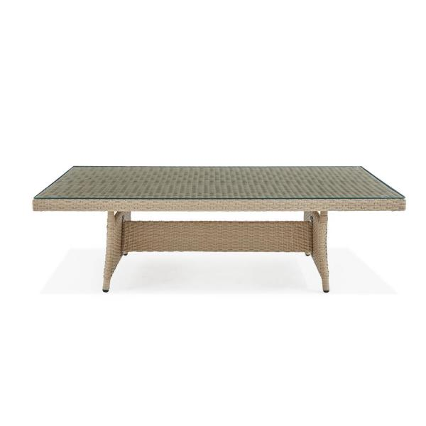 Canaan 33 in. L All-Weather Wicker Outdoor Coffee Table