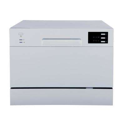 Portable Countertop Dishwasher in Silver with Delay Start LED 6 Place Settings