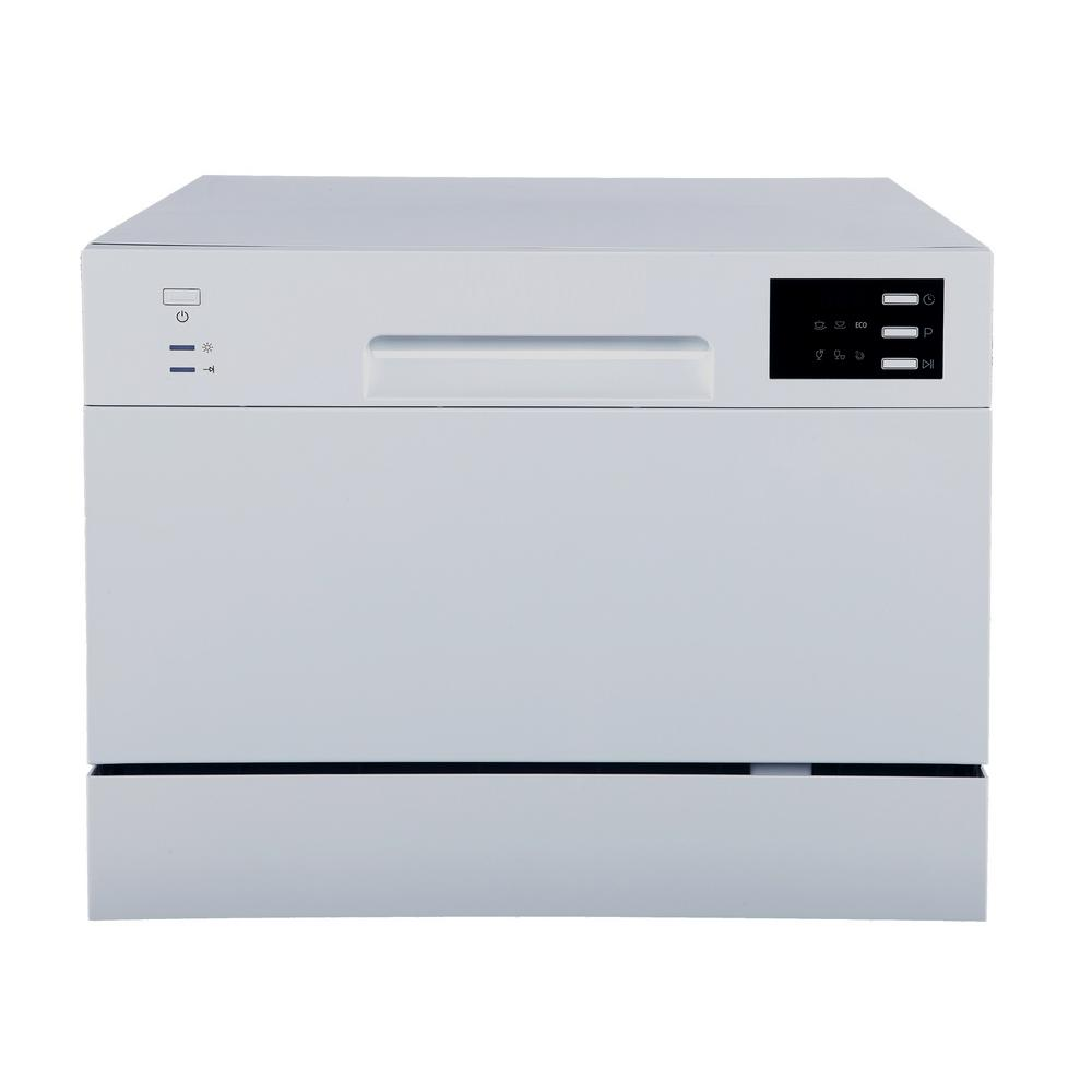 SPT Portable Countertop Dishwasher in Silver with Delay Start LED 6 ...