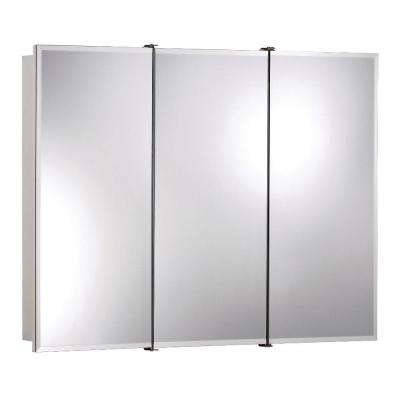 Ashland 36 in. x 28 in. x 4-3/4 in. Frameless Surface-Mount Bathroom Medicine Cabinet with Beveled Mirror