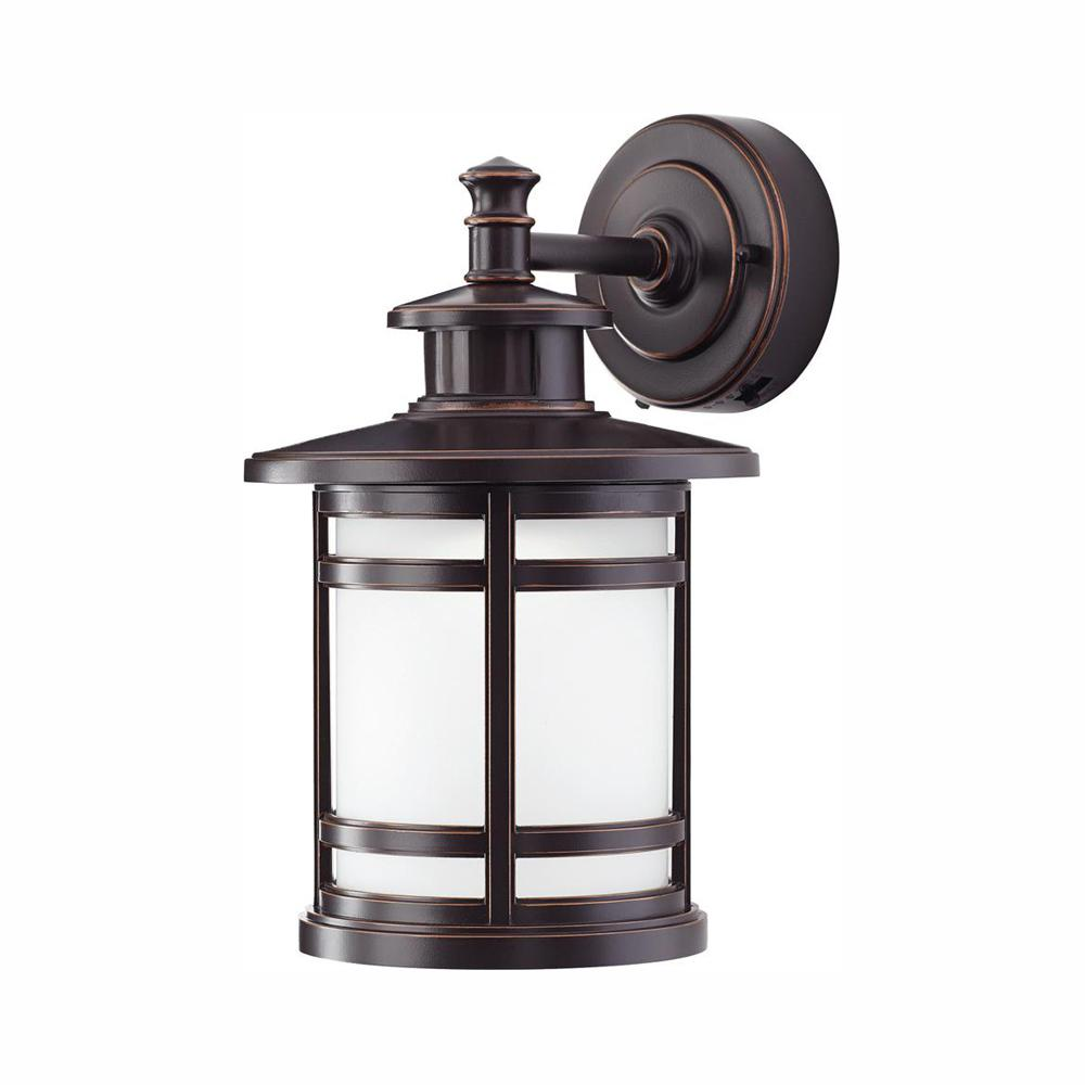 Home Decorators Collection Oil-Rubbed Bronze Motion Sensor Outdoor Integrated LED Wall Lantern Sconce