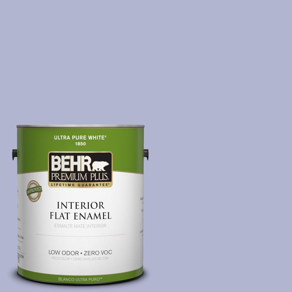 BEHR Premium Plus 1-gal. #620C-3 Purple Surf Zero VOC Flat Enamel Interior Paint-DISCONTINUED