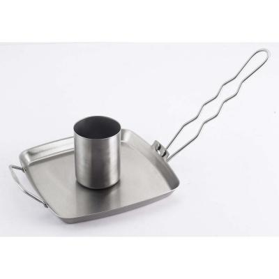 Stainless Steel Beer Can Chicken Roaster with Detachable Handle
