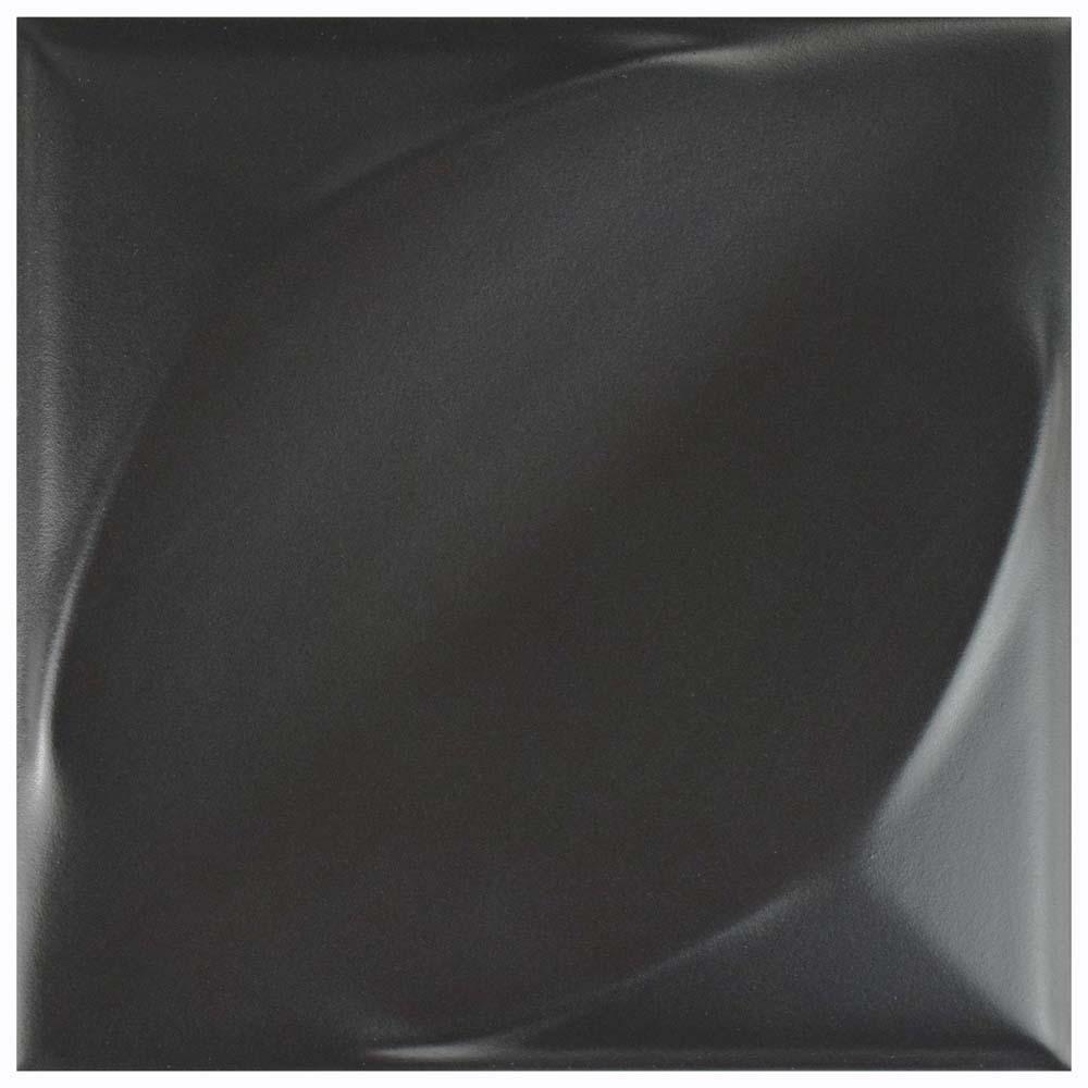 Hoja Nero 6 in. x 6 in. Ceramic Wall Tile (5.97 sq. ft. / case)