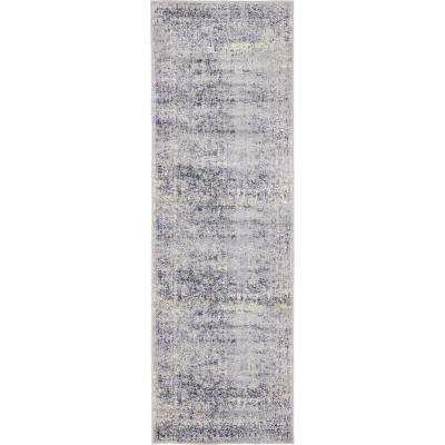 Chateau Jefferson Dark Blue 2' 2 x 6' 7 Runner Rug
