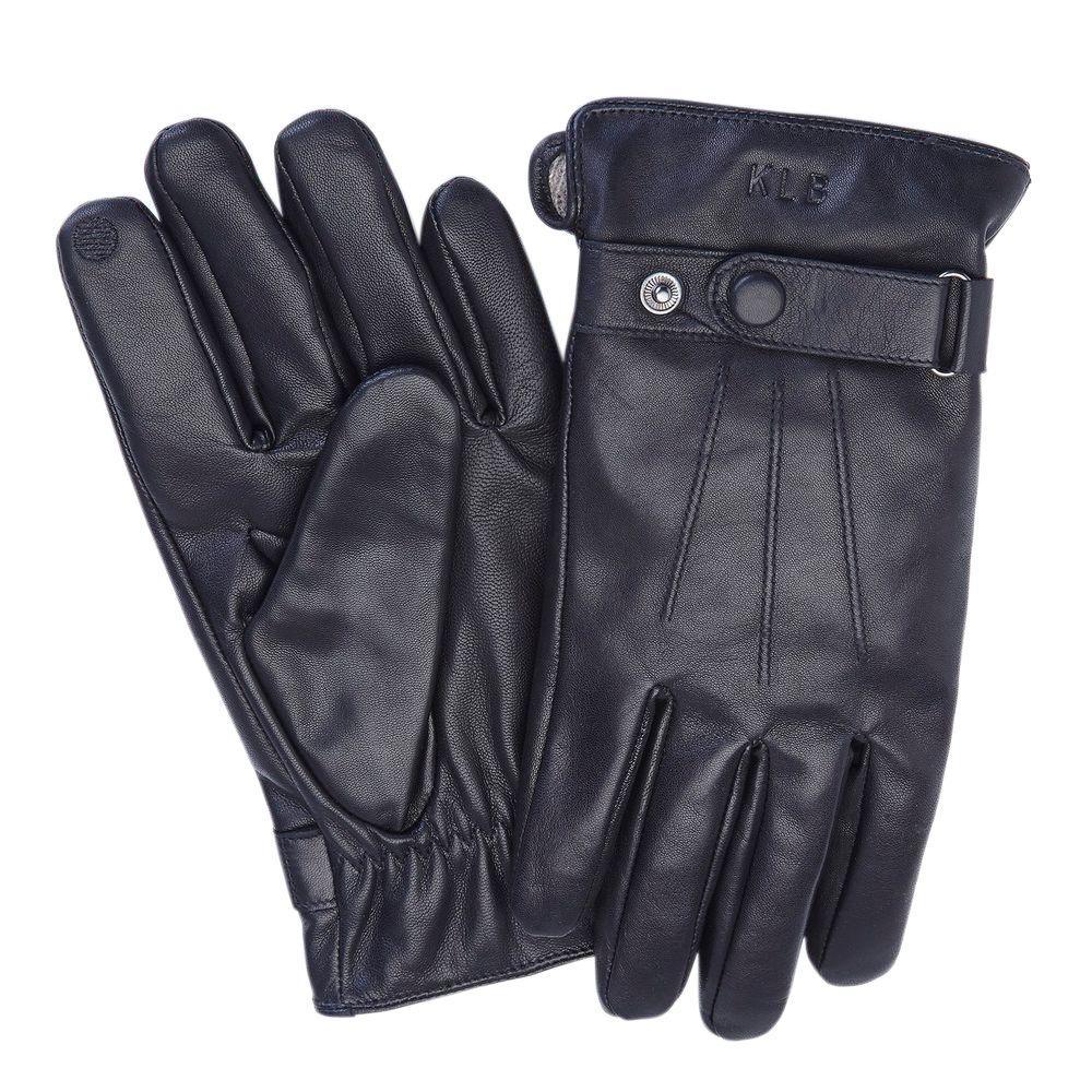 23dfa94fe Royce Premium Lambskin Men's Large Black Leather Touchscreen Gloves ...