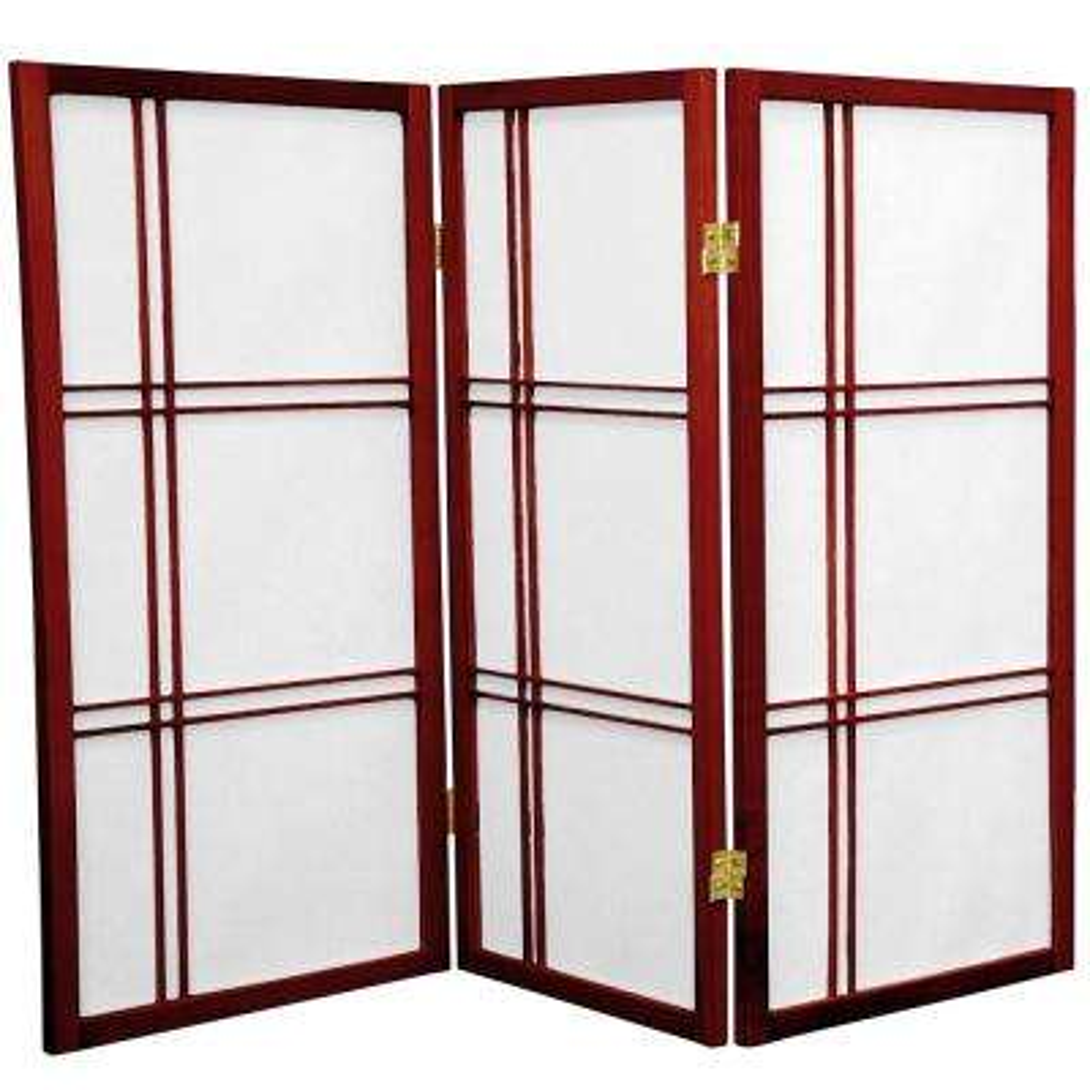 3 ft. Rosewood 3-Panel Room Divider