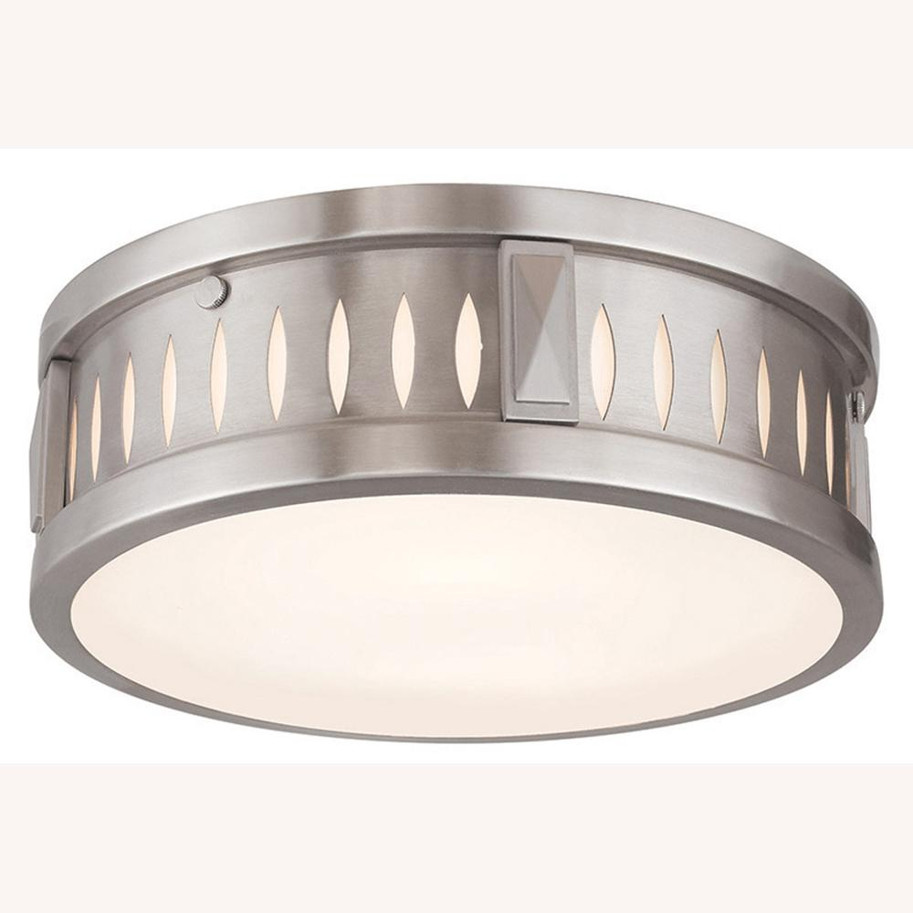 Vista 2-Light Brushed Nickel Flushmount