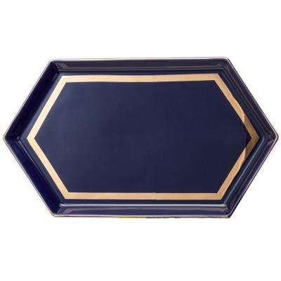 Seven Sisters Navy Hexagon Tray