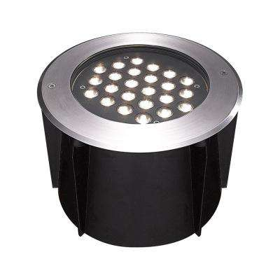 24-Watt Stainless Steel Outdoor Integrated LED Landscape Well Light