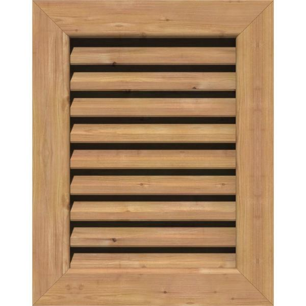 Ekena Millwork 35 In X 21 In Rectangular Smooth Western Red Cedar Wood Paintable Gable Louver Vent Gvwve30x1600sfuwr The Home Depot