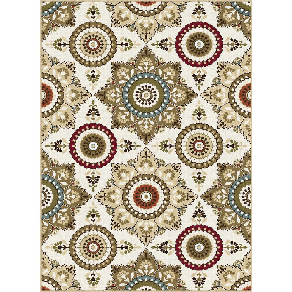 tayse rugs majesty cream 5 ft x 7 ft area rug mjs1417 5x7 the home depot. Black Bedroom Furniture Sets. Home Design Ideas