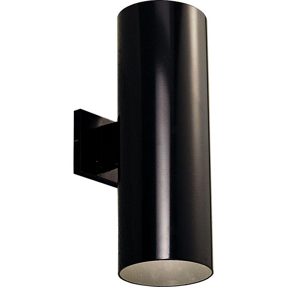 Progress Lighting 2-Light Outdoor Black Wall Lantern