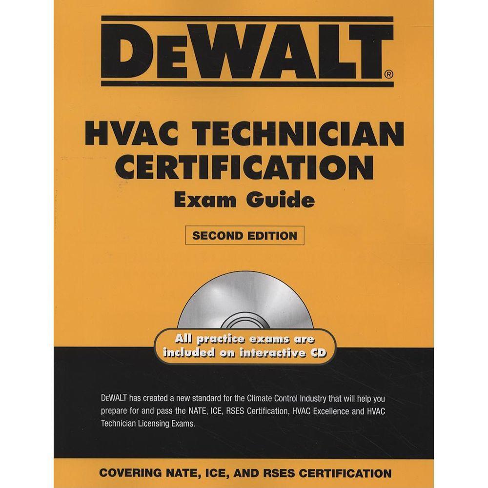 null DEWALT HVAC Technician Certification Exam Guide with CDROM