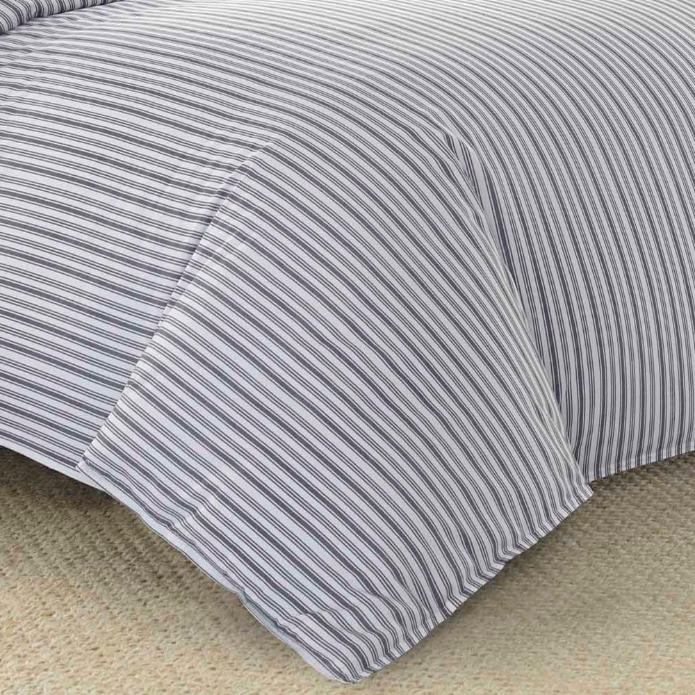 Nautica Coleridge Stripe 5-Piece Duvet Cover/Sheet Set Bundle, Full