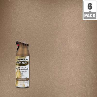11 oz. All Surface Metallic Antique Brass Spray Paint and Primer in One (6-Pack)