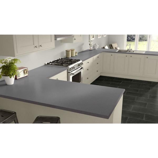 Wilsonart 2 In X 3 In Laminate Countertop Sample In Grey Glace With Standard Matte Finish Mc 2x3414260 The Home Depot