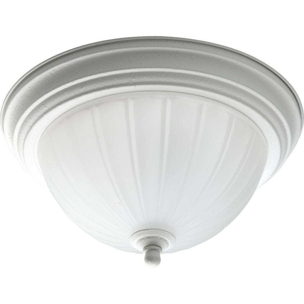 Progress Lighting 1-Light White Flush Mount-DISCONTINUED