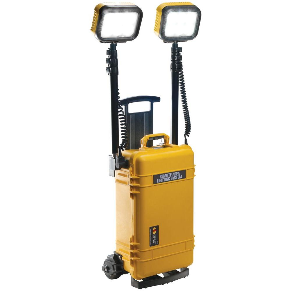 Pelican 9460 Remote Area Lighting System Two Head - Yellow -DISCONTINUED