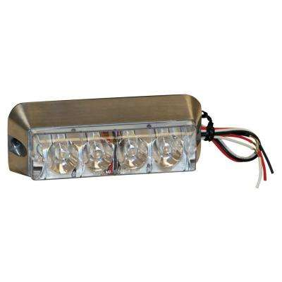 4.875 Inch Clear Rectangular Strobe Light