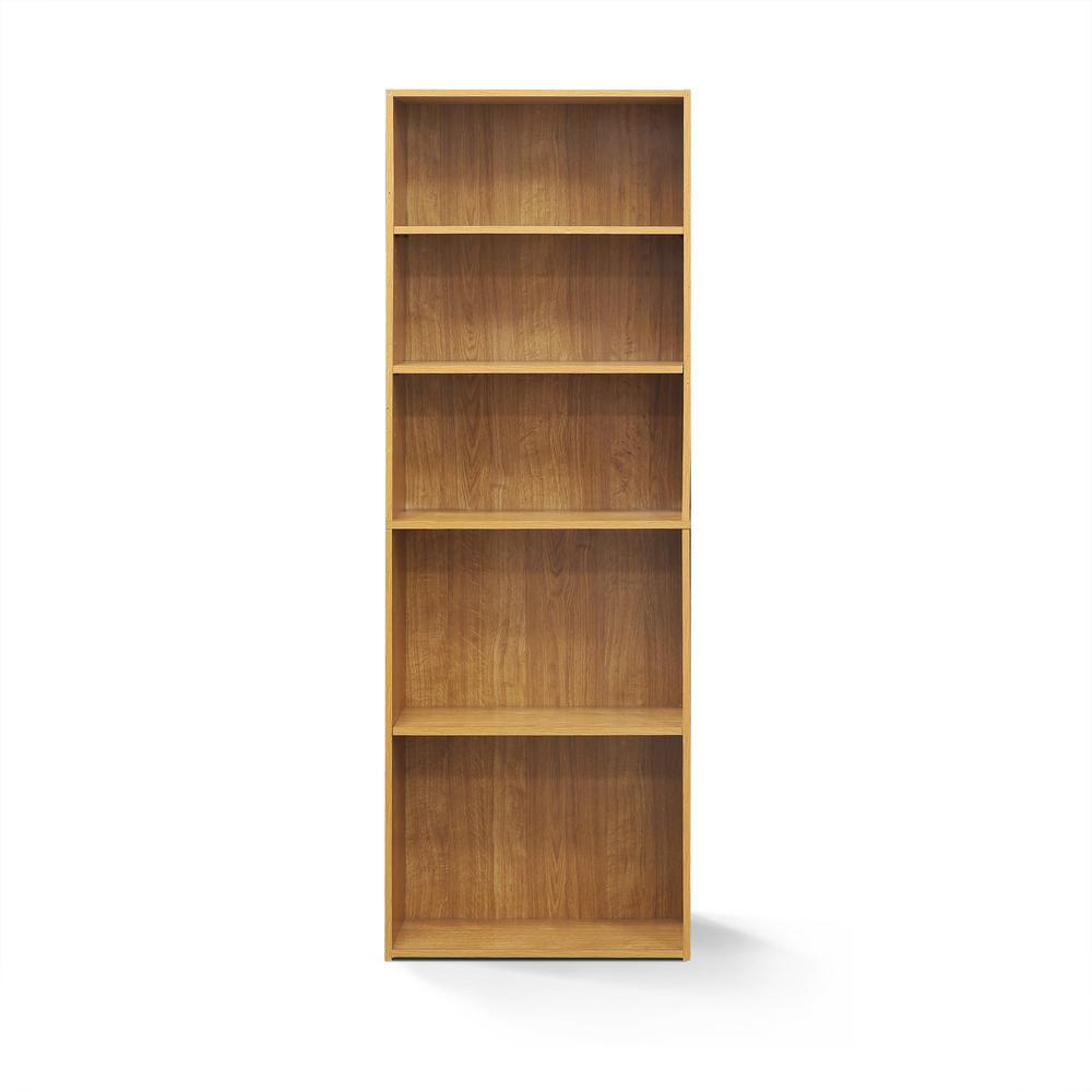 Wright Highland Oak 5-Shelf Bookcase
