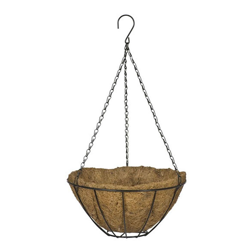 16 in. Black Grower's Style Metal Hanging Basket