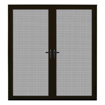 72 in. x 80 in. Bronze Surface Mount Ultimate Security Screen Door with Meshtec Screen
