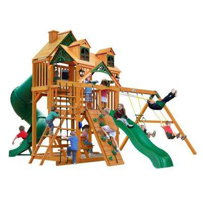 Great Skye I Wooden Playset with Malibu Wood Roof and 2 Slides