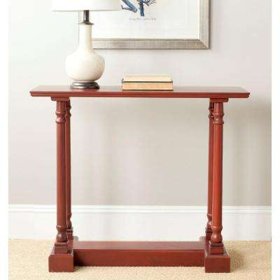 Regan Red Console Table