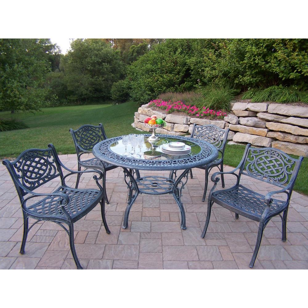 Home Decorators Collection Bolingbrook 7 Piece Wicker Outdoor Patio Dining Set With Sunbrella Spectrum Mist Cushions D13106 7pc The Home Depot