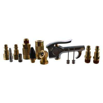 13-Piece Brass Air-Compressor Accessory Kit