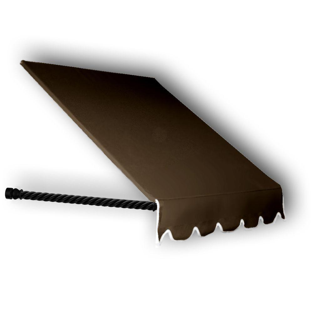 AWNTECH 3 ft. Santa Fe Window/Entry Awning Awning (44 in. H x 36 in. D) in Brown