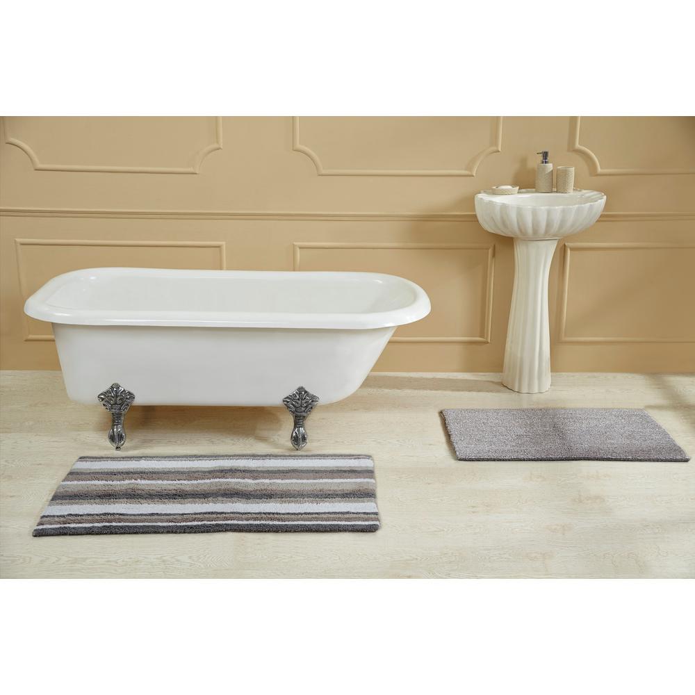 Elixir Grey Multi 24 in. x 40 in. Bath Rug