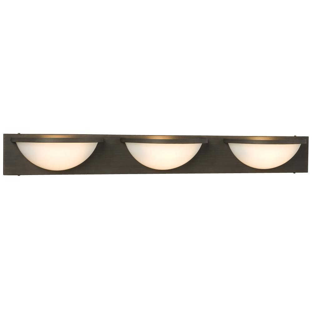 Filament Design Negron 3-Light Oil Rubbed Bronze Halogen Bath Vanity