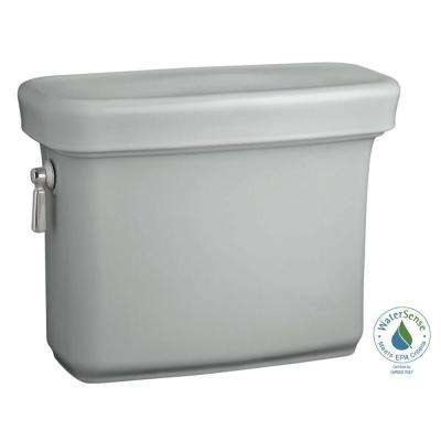 Bancroft 1.28 GPF Single Flush Toilet Tank Only with AquaPiston Flush Technology in Ice Grey
