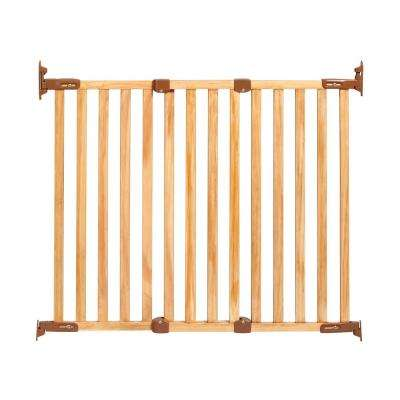 31 in. H Hardware Mount Gate Angle Mount Wood Safeway Wall Mounted Gate in Oak