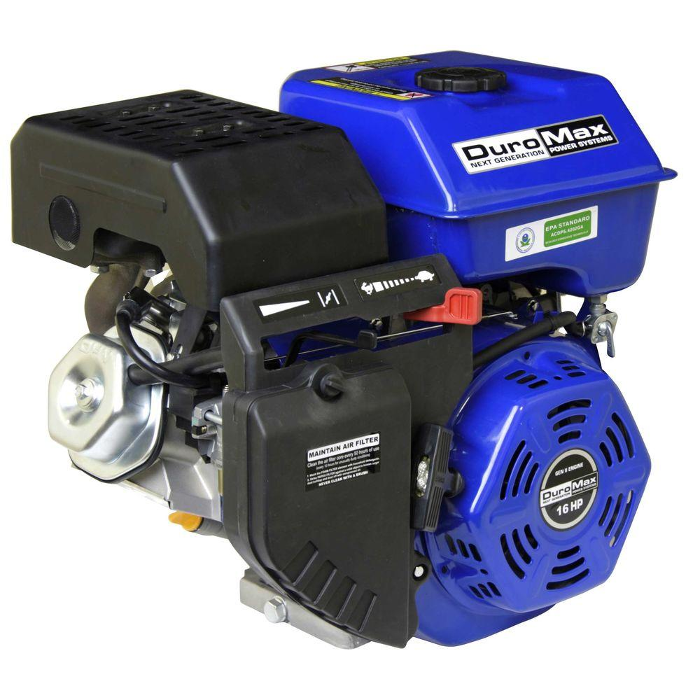 Duromax Portable 16 HP 1 in  Shaft Portable Gas-Powered Recoil Start Engine