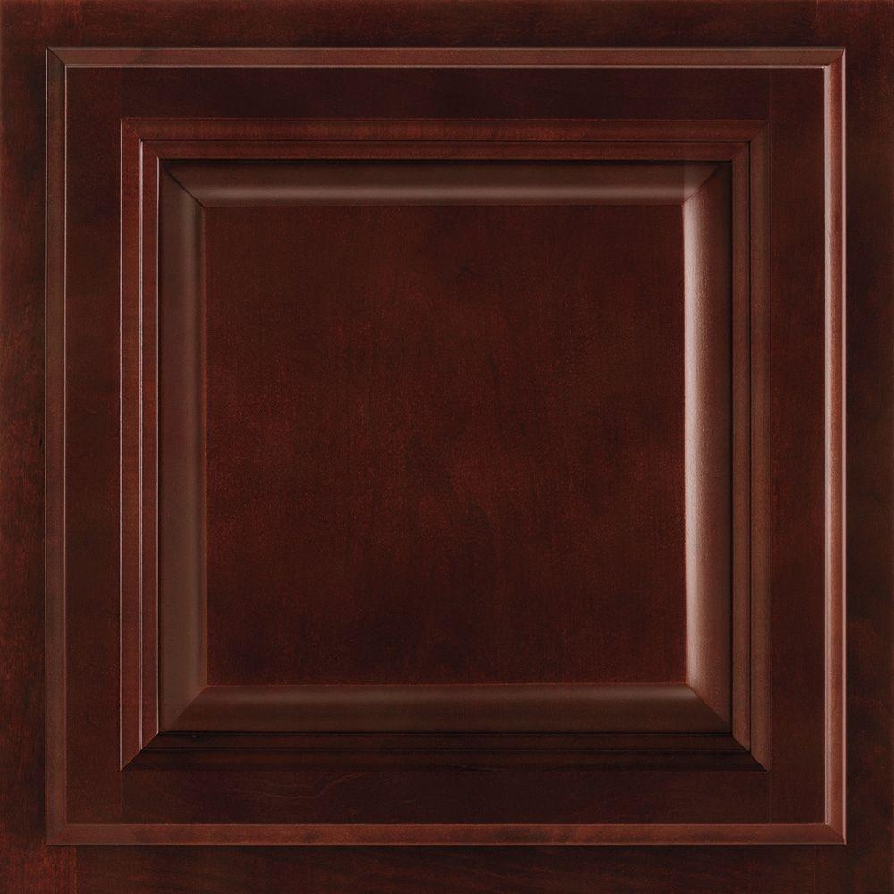 Cabinet door sample in portland cherry bordeaux