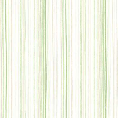Lanata Green Stripe Wallpaper