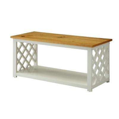 Cape Cod White and Pine Coffee Table