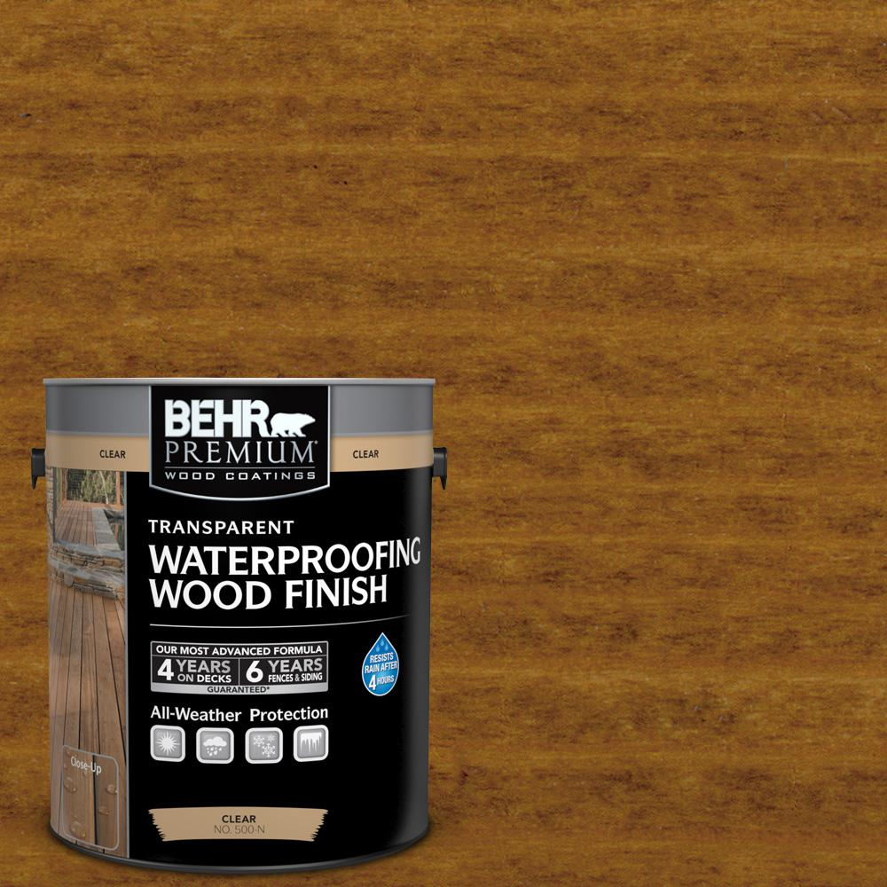 BEHR Premium 1 gal. #T-129 Chocolate Transparent Waterproofing Wood Finish