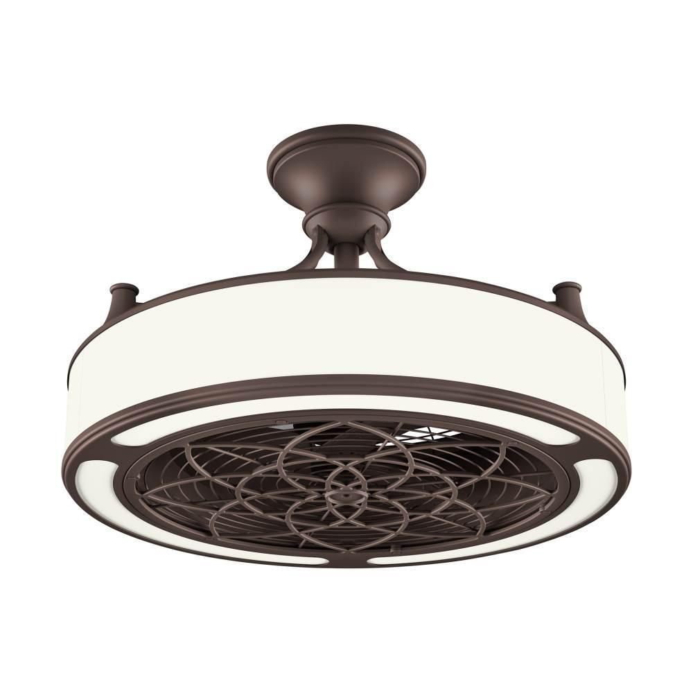Stile Anderson 22 in. LED Indoor/Outdoor Bronze Ceiling Fan with Remote Control