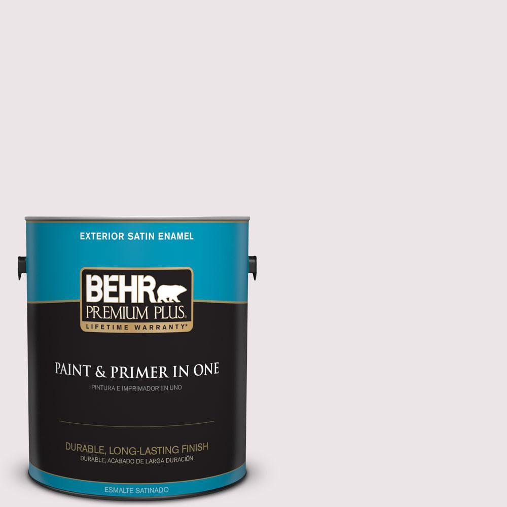 BEHR Premium Plus 1-gal. #690E-1 Shell Brook Satin Enamel Exterior Paint