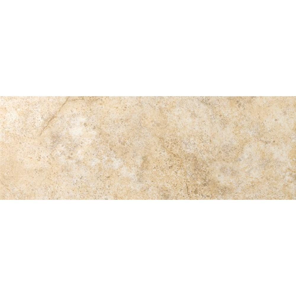 Emser Toledo Beige 3 in. x 13 in. Single Bullnose Ceramic Floor and Wall Tile (0.27 sq. ft.)