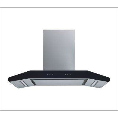 36 in. Convertible Wall Mount Range Hood in Stainless Steel with Silencer Panel, 800 CFM and 5 Speed Touch Control