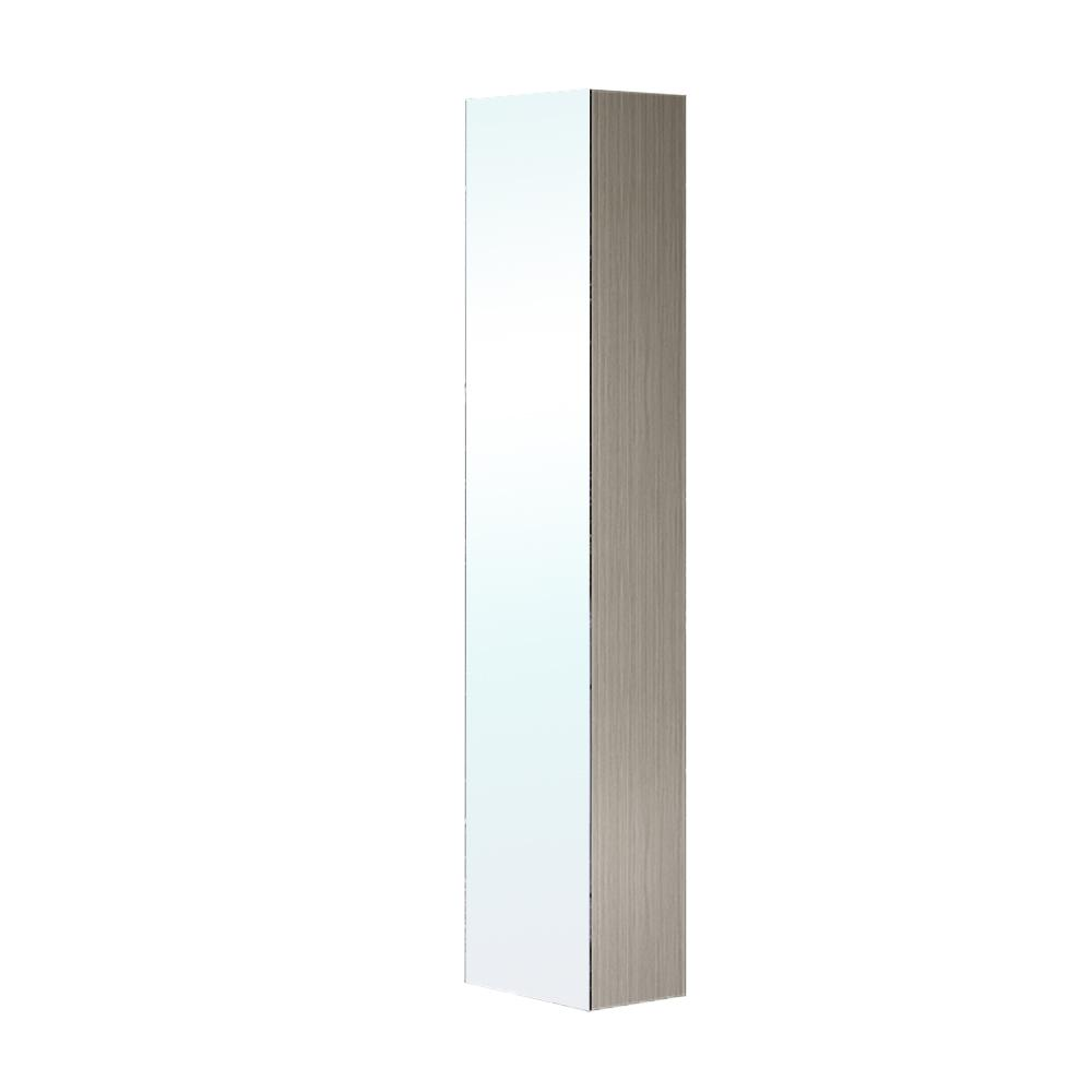 H Wall Mounted Linen Cabinet With Mirror In Gray