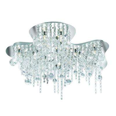 Alissa Collection 18-Light Chrome Flushmount